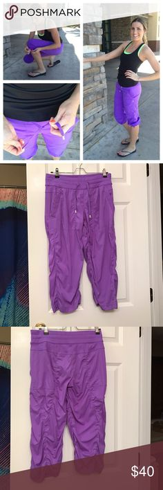 Lululemon Studio Crops Lululemon Studio Crops in power purple. These have probably been worn/washed twice and are in excellent condition. No pilling, no pulls and waistband has not rolled. NO TRADES lululemon athletica Pants Capris