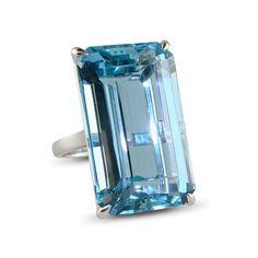 Rings « A rectangular-cut aquamarine ring « Humphrey Butler