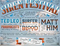 Village Voice Siren Fest | Jessica Hische