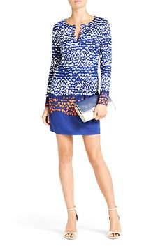 DVF | Reina Dress in Scribble Lines Placement, Spring 2013: Palazzo