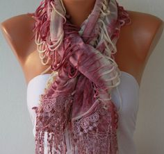 Multicolor  Shawl Scarf  Headband Necklace, $19.00