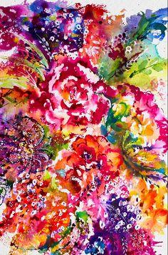 Watercolor Garden III
