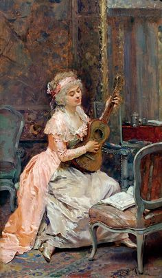 The Athenaeum - The Music Lesson (Raimundo de Madrazo y Garreta - No dates listed)