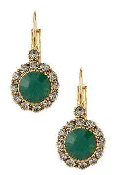 Prudence C Antique Circle Crystal Drop Earrings by Non Specific on @HauteLook