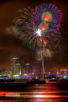 Fireworks in Miami, Florida. Downtown Miami, Miami Florida, Florida Beaches, Florida Travel, South Florida, Miami Skyline, Fire Works, Magic City, Sunshine State