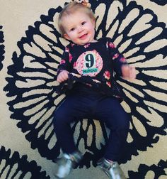 """Working up a pretty good vocabulary adding """"yeah"""" and """"all done"""" (but dada is still her fav word) pulling up on everything and loves blackberries! #9months #babyBARRONess"""