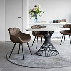 Calligaris Igloo Soft Chair from Lime Modern Living. Find a range of contemporary furniture from top brands including Calligaris Table Ronde Design, Soft Chair, Mid Century Dining, Wood Accents, Dining Room Design, Contemporary Furniture, Dining Table, Interior Design, Home Decor