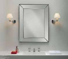 Grosvenor Bathroom Wall Light in Polished Chrome and White Parchment Shade @astrolighting 0511 -available online from Sparks Direct at our low price of £62.39. Archway, London UK.