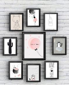 Des jolis posters pour la chambre de votre petite fille avec Berceau magique