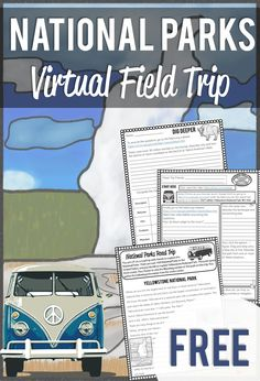 Distance Learning Virtual Field Trip To The National Parks Learning Activities, Teaching Kids, Kids Learning, Yellowstone Nationalpark, Virtual Travel, Virtual Field Trips, Free Lesson Plans, E Mc2, Kids Education