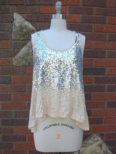 All That Glitters Silver Tank Top