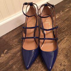"Banana Republic Desiree Heels in Blue Patent Banana Republic Desiree Heels in Blue Patent Leather with 4"" heel. Banana Republic Shoes Heels"
