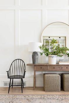 White Shiplap, Villa, Studio Mcgee, The Ranch, Entryway Decor, Apartment Entryway, Entry Foyer, Cool Rugs, Mudroom