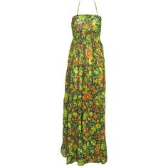 Gringo Fair Trade Floral Tie Back Maxi Dress ❤ liked on Polyvore