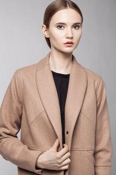 Female camel coat