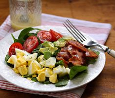 Spinach Salad with Honey Mustard Vinaigrette from the Perfect Pantry