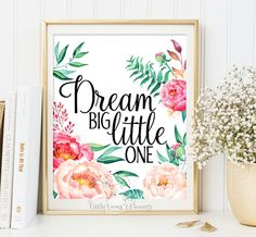 Promo codes for 8x10 instant download prints available in LittleEmmasFlowers Shop Announcement  ♥Welcome to Little Emmas Flowers shop!♥ _________________________________ Dream Big Little One, Nursery Wall Decor  _________________________________ Before placing your order, please take time to read the information below. _________________________________ _________________________________ ♥No physical item will be shipped. You are purchasing a high resolution file♥  Files Included: ♥ Instant…