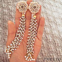 Your Diwali earrings. Then your wedding season earrings. All year round favourites #PearlTasselEarrings #Prerto #Love #Fashion #Earrings #OnlineShopping #ShopOnline #ShopNow #Shop #Festive #Diwali