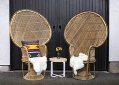 Wicker Peacock Chair, Sweetheart Table, Hanging Chair, Lounge, Furniture, Chairs, Home Decor, Airport Lounge, Drawing Rooms