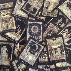 """Dark, spooky, Halloween decks parade on my blog. Today it is The Book of Azathoth #Tarot"""