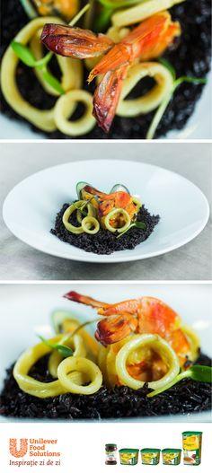 OREZ NEGRU CU FRUCTE DE MARE Food, Eten, Meals, Diet