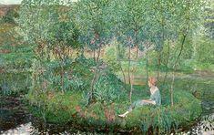 """Heinrich Vogeler, """"Frühling/Spring"""", 1913, oil on canvas, Niedersächsisches Landesmusuem für Kunst und Kulturgeschichte, Oldenburg, Germany"""