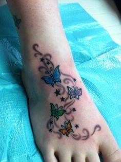 Butterfly tattoo / foot tattoo
