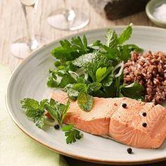 Salmon over Warm Lentil, Apple & Walnut Salad Recipe - EatingWell.com