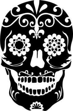 Day of the Dead Sugar Skull Sticker Vinyl Decal by RespectPrinting