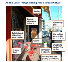 Placemaking Principles in Action: The Little Things that Make a City – Greater Victoria Placemaking Network Project For Public Spaces, Barber Shop Pole, Simple Things, Petunias, Barbershop, Dots, Action, Victoria, Projects