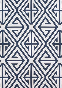 DEMETRIUS APPLIQUE, Navy, W724302, Collection Bridgehampton from Thibaut