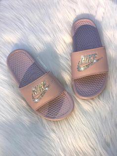 d8a7ae763719 Swarovski Nike Brand New Womens Swarovski Nike Benassi JDI Swoosh Slide  Sandals. Nike Logo is
