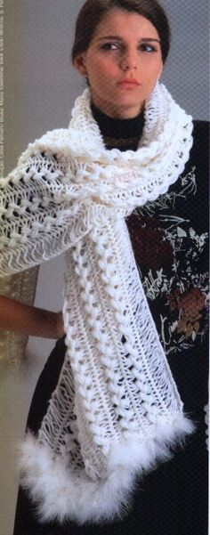 Hairpin Crochet Scarf with pattern