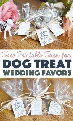 It's easier than you think to honor your pup on your wedding day! Ensure your party reaches the pups at home with these dog treat wedding favors with free printable tags. Dog Wedding, Free Wedding, On Your Wedding Day, Wedding Ideas, Wedding Inspiration, Wedding Planning, Event Planning, Wedding Decor, Rustic Wedding