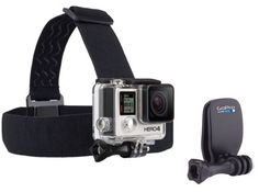 Share your GoPro videos from your perspective! Use the headstrap to record your unique point-of-view, or use the QuickClip on the back of a baseball cap.