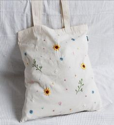 # unique # hand embroidered # jute bags jute bags hand embroidered flowers … F ck! Negative Space Modern Embroidery Kit by EllucyStitches on Etsy Embroidery On Clothes, Embroidery Bags, Couture Embroidery, Embroidered Clothes, Hand Embroidery Patterns, Embroidered Flowers, Floral Embroidery, Modern Embroidery, Embroidery Stitches Tutorial