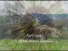 """""""April Love"""" - Pat Boone - This rendition with strings is the most beautiful. Kinds Of Music, I Love Music, Love Songs, Bobby Rydell, 50s Music, Pat Boone, Memories Faded, Old And Teen, Seven Wonders"""