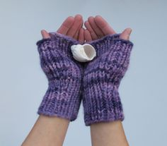 Fast And Fearless Fingerless Mitts by Ellen Rodgers