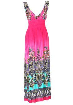 Sleeveless Plunging V-Neck Ethnic Style Pattern Print Corset Stylish Women's DressPrint Dresses | RoseGal.com