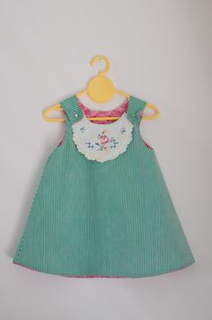 adaa9d996e05 Hey Bubbles - sweet doiley dress - adorable example of how to use vintage  doilies to accent girl s clothes