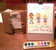Using Resources Wisely - Cookie Cases into sketch books and Easels