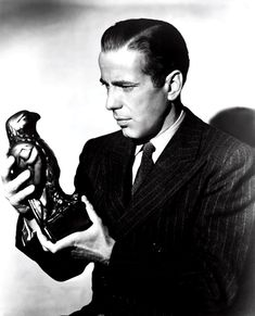 The stuff that dreams are made of... Humphrey Bogart and the Maltese Falcon, from the movie, 'The Maltese Falcon' (1941)