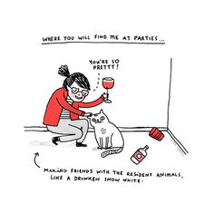 Me, At Parties Art Print - BC seriously. Drunk Snow White is the best kind of Snow White