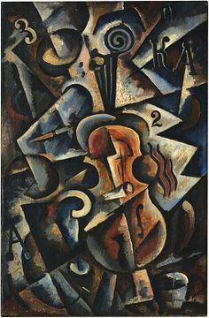 Liubov Popova Cubo-Futurist Composition with Violin 1915 Oil on canvas 87 x 58 cm