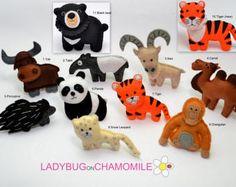 FOREST Animals WOODLAND animals felt magnets Price per 1