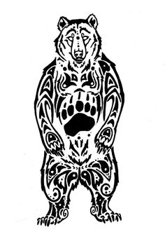 Bear Tattoos Designs, Ideas and Meaning | Tattoos For You-- Love the paw print in the center