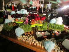 Charlie and the Chocolate Factory - A variety of sweet treats set out in line with the landscape as per the movie. All prepared by the forum Party Catering, Chocolate Factory, Private Label, Party Themes, Sweet Treats, Africa, Events, Movie, Landscape