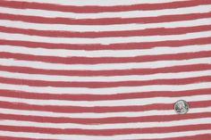 Mood Fabrics : New York Fashion Designer Discount Fabric | FS23870C Red/White Stripes Prints