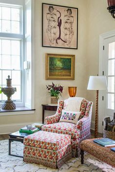 Southern Living Idea House Charlottesville Bunny Williams floor lamp