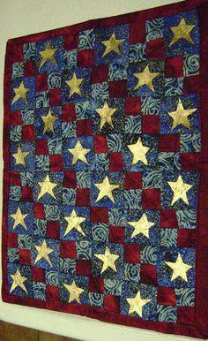 star mini quilt